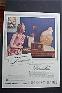 1940 Crosley Radio with Woman Listening To Radio  (Image1)