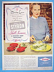 Vintage Ad: 1950 Dow Plastics with Dione Lucas (Image1)