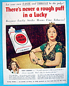 1950 Lucky Strike Cigarettes W/hedy Lamarr As Delilah