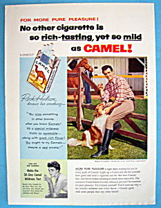 Vintage Ad: 1955 Camel Cigarettes With Rock Hudson