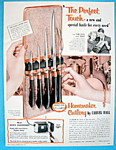 Vintage Ad: 1955 Carvel Hall Cutlery W/ Virginia Mayo