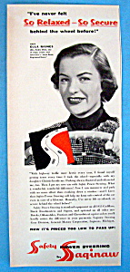 Vintage Ad: 1955 Saginaw Power Steering W/ella Raines