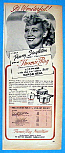 Vintage Ad: 1948 Thermic Ray Cookware w/Penny Singleton (Image1)
