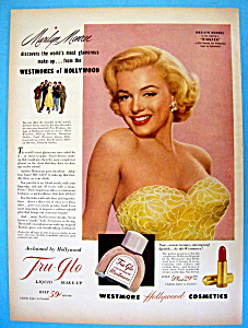 Vintage Ad: 1952 Tru Glo Make Up W/ Marilyn Monroe