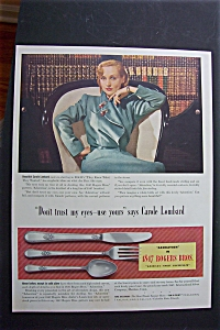 Vintage Ad: 1940 1847 Rogers Bros With Carole Lombard