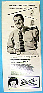 Vintage Ad: 1949 Reliance Shirts With George Brent