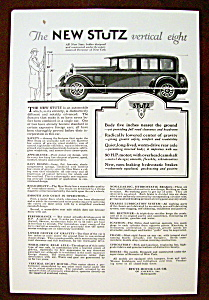 Vintage Ad: 1926 The New Stutz Vertical Eight