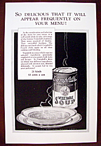Vintage Ad: 1926 Campbell's Vegetable Soup (Image1)