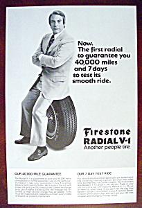 Vintage Ad: 1972 Firestone Radial V-1 (Image1)