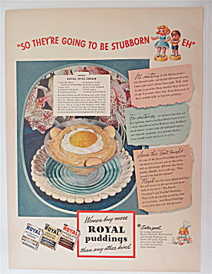 1942 Royal Pudding With Royal Spice Cream