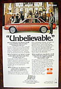 Vintage Ad: 1976 Dodge Aspen w/ Rex Harrison (Image1)