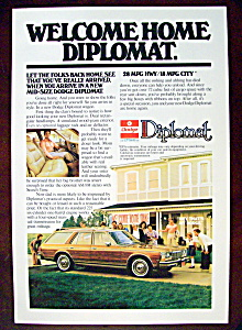 Vintage Ad: 1978 Dodge Diplomat (Image1)