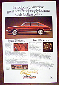 Vintage Ad: 1978 Oldsmobile Cutlass Salon