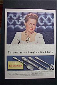 1940 1847 Rogers Bros Silverware w/Olivia DeHavilland (Image1)