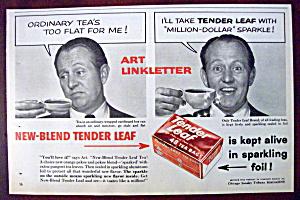 Vintage Ad: 1958 Tender Leaf Tea with Art Linkletter (Image1)