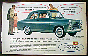 Vintage Ad: 1958 English Ford Line