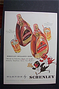 1940 Schenley Whiskey With The Red Bird
