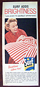 1957 Surf Laundry Detergent W/woman With Clean Shirt