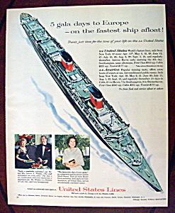 Vintage Ad: 1958 United States Lines (Image1)