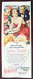 Vintage Ad: 1957 Cashmere Bouquet Soap (Image1)