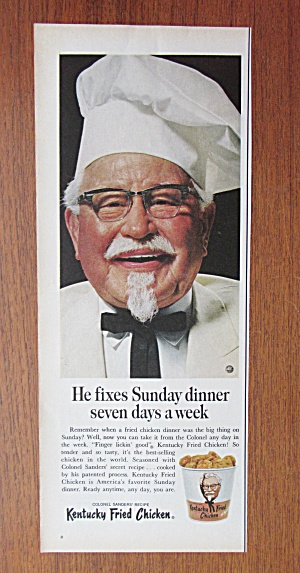 1967 Kentucky Fried Chicken with Colonel Sanders  (Image1)