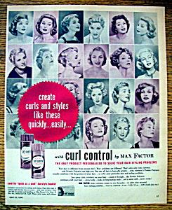 Vintage Ad: 1958 Max Factor Curl Control (Image1)