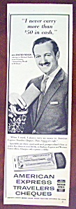 1958 American Express Travelers Cheques w/David Niven (Image1)