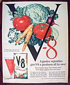 Vintage Ad: 1958 V - 8 Vegetable Juice (Image1)