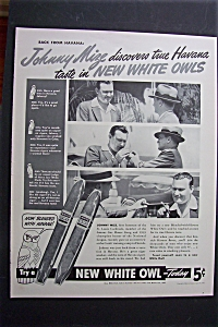 1940 White Owl Cigars with Johnny Mize (Image1)