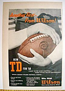 Vintage Ad: 1958 Wilson Football (Image1)