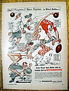 Vintage Ad: 1959 Seamless Athletic Ball (Image1)