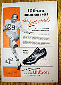Vintage Ad: 1958 Wilson Riteweight Shoes w H. McElhenny (Image1)