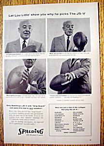 Vintage Ad: 1958 Spalding J5-V with Lou Little (Image1)