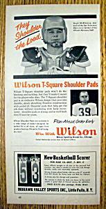 Vintage Ad: 1958 Wilson T-Square Shoulder Pads (Image1)