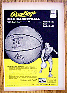 Vintage Ad: 1955 Rawlings Rss Basketball
