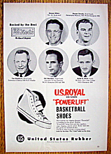Vintage Ad: 1955 Powerlift Basketball Shoes (Image1)
