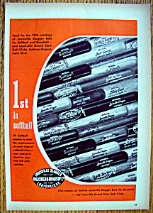 Vintage Ad: 1955 Louisville Slugger Bats w/ Al Kaline (Image1)