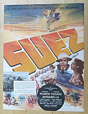 Vintage Ad: 1938 Suez With Tyrone Power