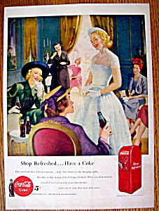 1949 Coca Cola (Coke) With Girls Sitting At A Table