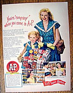 Vintage Ad: 1949 A & P Super Markets (Image1)