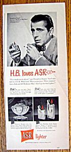 Vintage Ad: 1949 ASR Lighter with Humphrey Bogart (Image1)