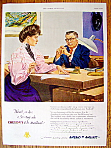 Vintage Ad: 1951 American Airlines