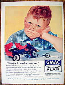 Vintage Ad: 1957 Gmac Time Payment Plan
