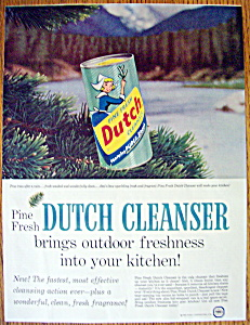 Vintage Ad: 1958 Dutch Cleanser (Image1)
