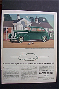 1940 Packard 120 with Green Packard Touring Sedan (Image1)