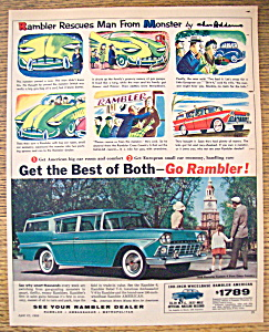 1958 Rambler With Rambler Rescues Man