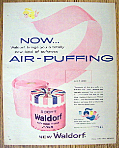 Vintage Ad: 1958 Scott Waldorf Bathroom Tissue (Image1)