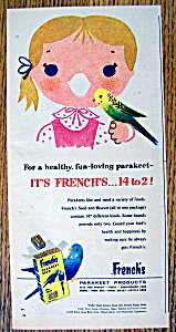 Vintage Ad: 1958 French's Parakeet Seed (Image1)