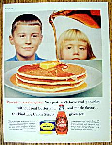 Vintage Ad: 1960 Log Cabin Syrup (Image1)