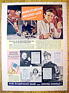 1937 Camel Cigarettes w/Detroit Red Wing's Herb Lewis (Image1)